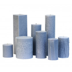 Pillar candle unscented grey